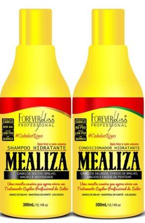 Kit Profissional Maizena Capilar Mealiza Forever Liss Shampoo 300ml + Condicionador 300ml