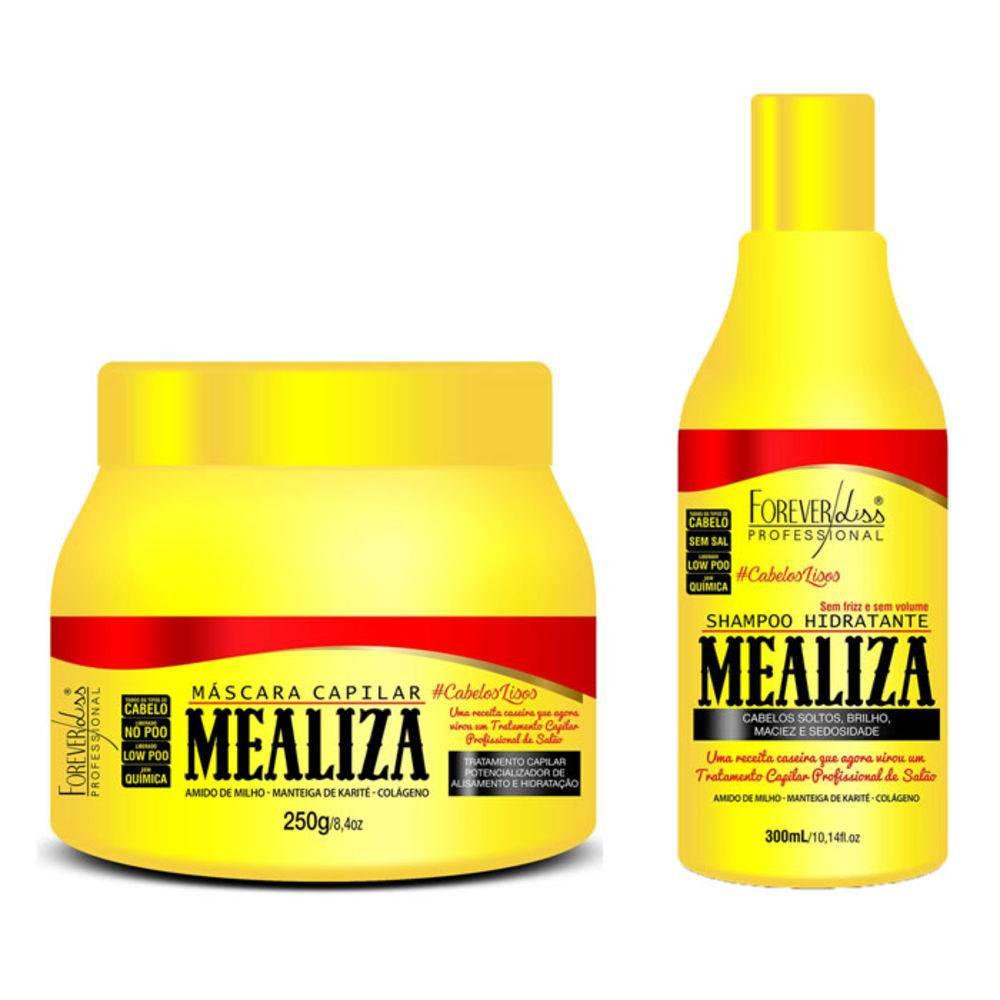 Kit Profissional Maizena Capilar Mealiza Forever Liss Shampoo 300ml + Máscara 250g