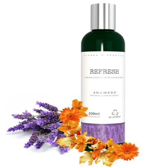 Kit Refresh Flores e Vegetais Grandha + Escova  Alisadora Bivolt