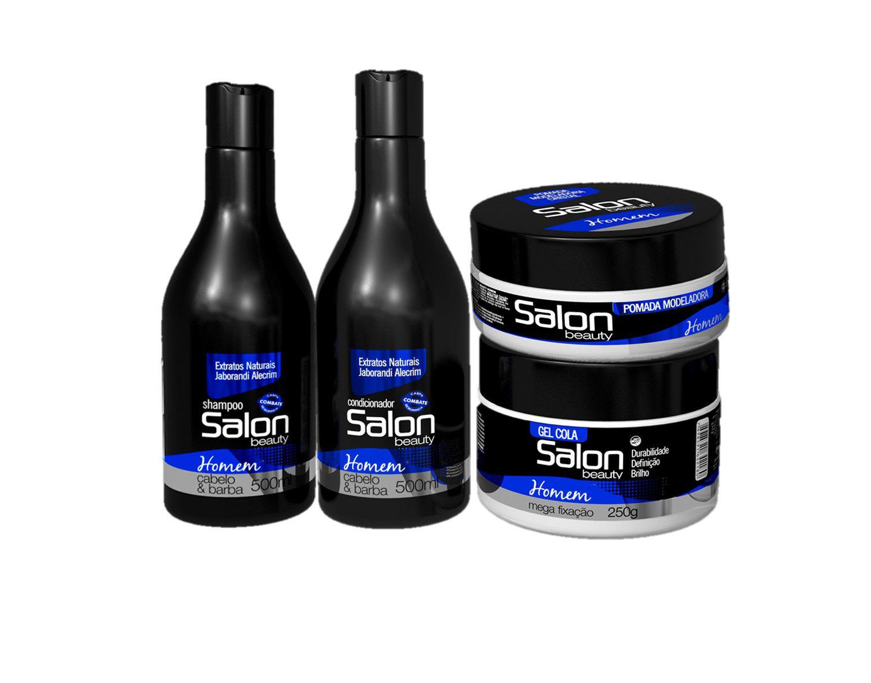 Kit Salon Beauty Completo para Homem Barba e Cabelo