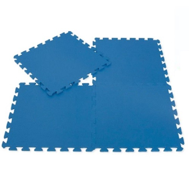 Kit Tatame Fitness Treino Academia EVA com 4 Placas Azul