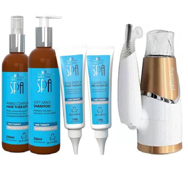 Kit Urbano Spa Hair Therapy + Secador Dobrável KM 6832