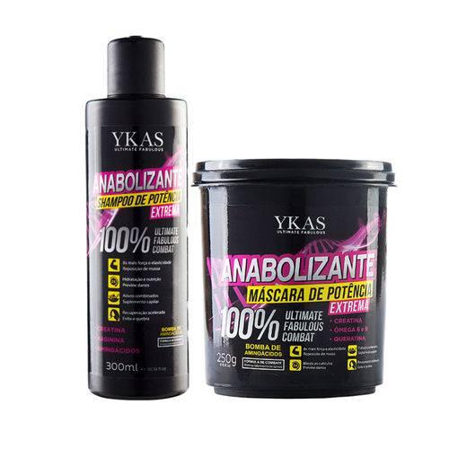 Kit Ykas Anabolizante Capilar Shampoo e Máscara