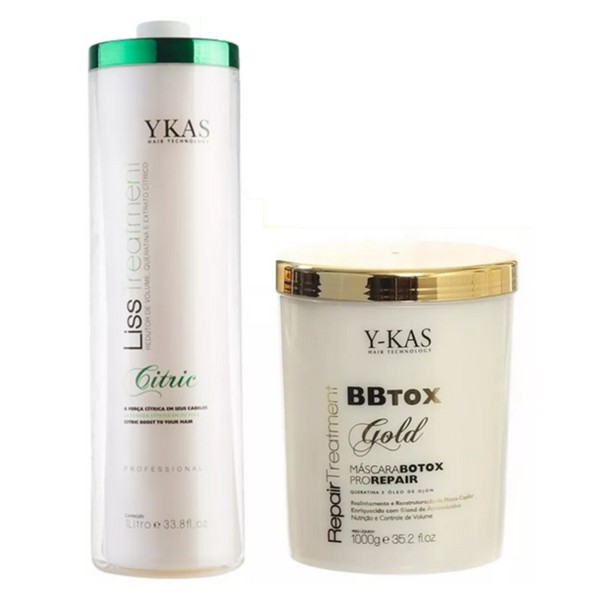 Kit Ykas BBtox Repair 1K e Escova Progressiva citric 1L