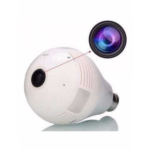 Lâmpada Led com Câmera Espiã WiFi Panorâmica 360º FULL