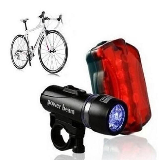 Lanterna Luz Segurança Bicicleta Traseira e Frontal