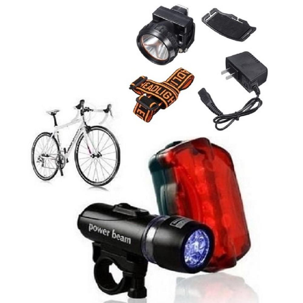 Lanterna Luz Segurança Bicicleta Traseira e Frontal Luz Capacete