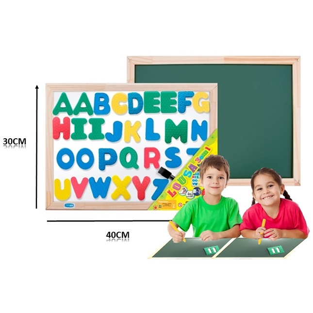 Lousa Quadro magnético ABC 40x30 Letras Acessorios