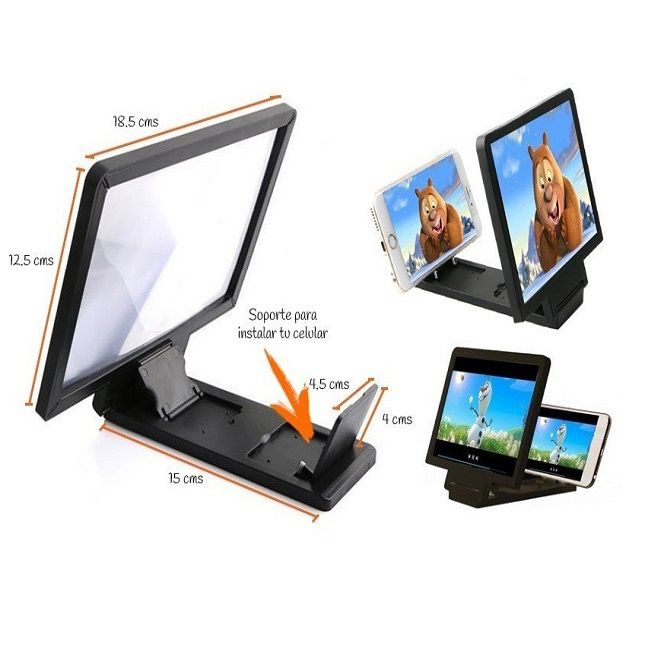 Lupa Ampliadora Tela De Celular 3D  Universal