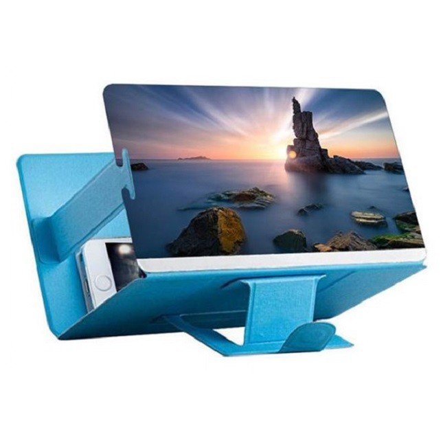 Lupa Ampliadora Tela De Celular 3D  Universal Azul