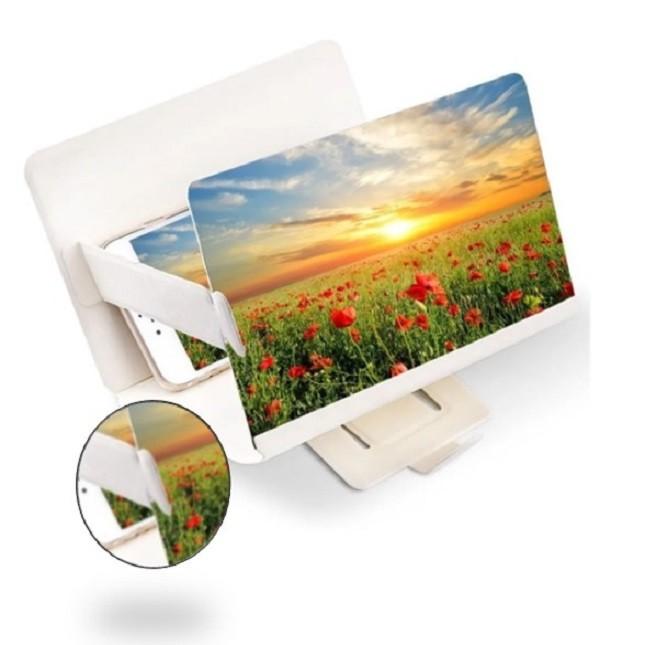 Lupa Ampliadora Tela De Celular 3D  Universal Branca