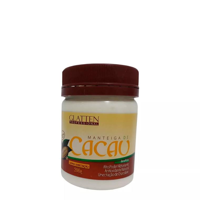 Manteiga de Cacau Glatten Professional Máscara Hidratante 200g
