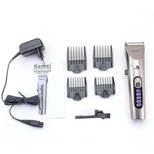 Máquina cortador de cabelo Pelos e Barba Original Kemei KM-1627