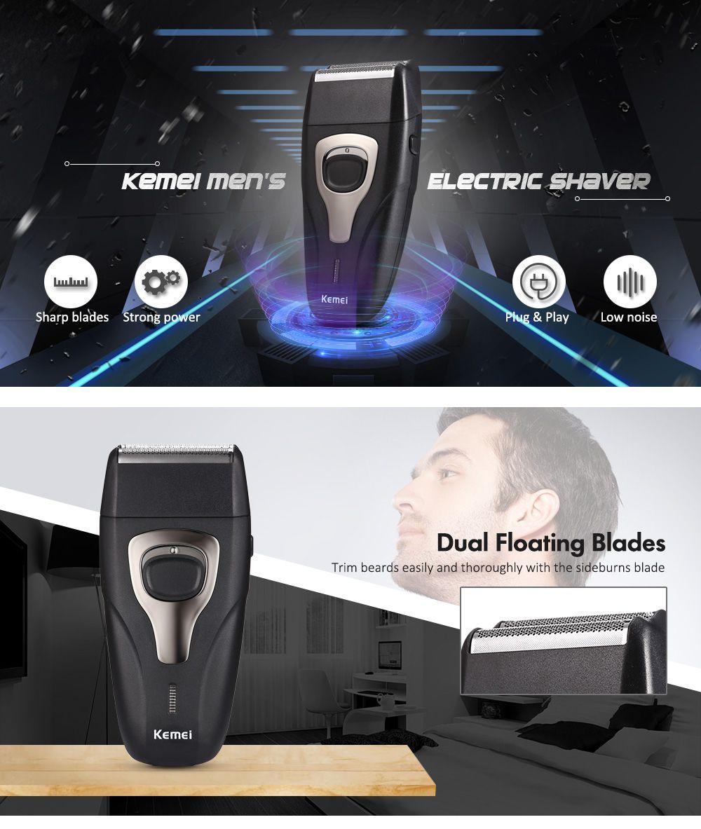 Maquina De Barbear Kemei  Km-11032 Em 1 Barba E Pezinho Sem Fio Recarregável Bivolt