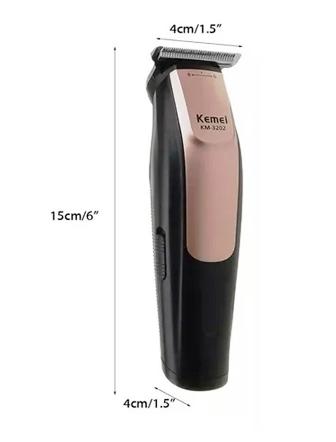 Maquina de cortar cabelo Profissional sem fio recarregavél Kemei 3202