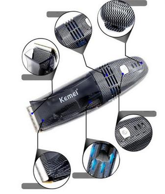 Maquina de cortar cabelos sem sujeita com aspirador lançamento kemei 77