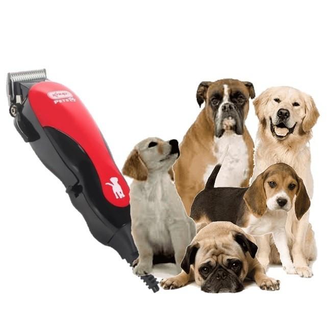 Maquina De Tosar Cães Cachorros Knup Tesoura Pente Escova