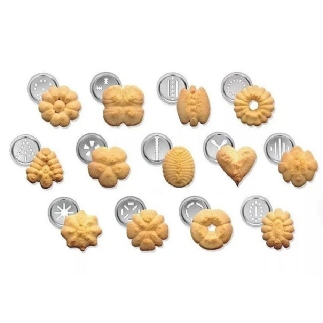 Máquina Para Biscoito Cookies  com 21 Acessórios Inox