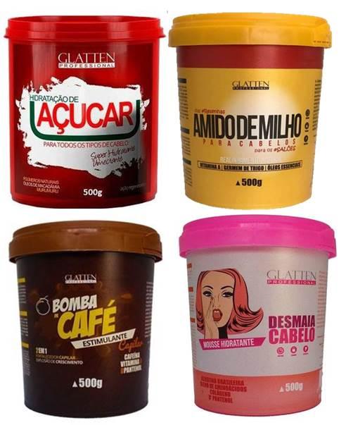 Máscara Açúcar Maizena Desmaia Café (4 X500 g) Glatten