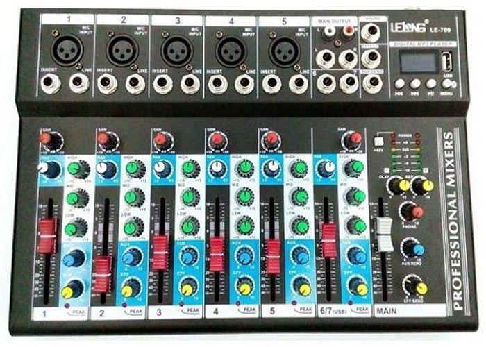 Mesa De Som 6 Canais Mixer Usb - Mp3 Digital LE-709