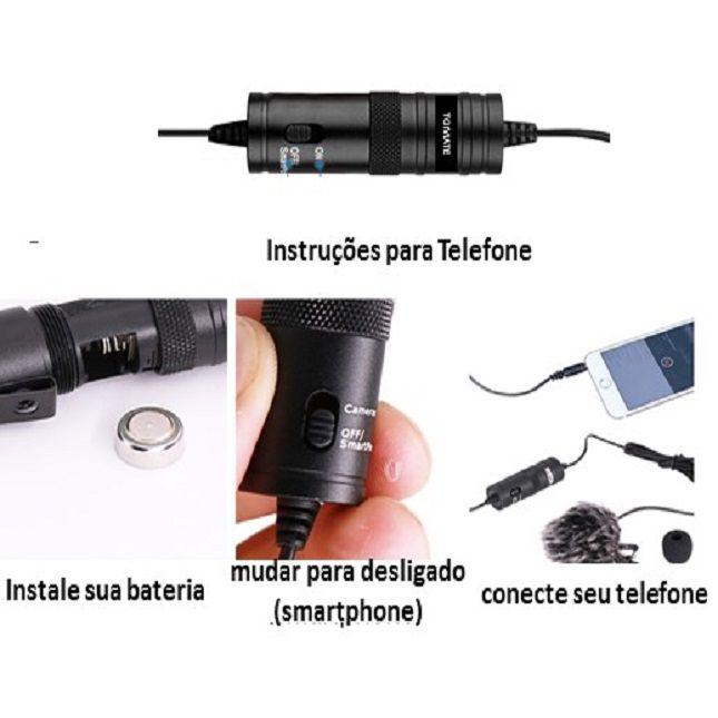 Microfone La Pela MT-3301 Tomate Celular Câmeras Gravador Pc Notebook