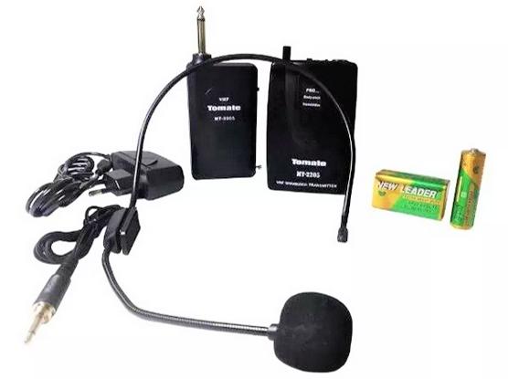 Microfone sem fio  Amplificador Professor Megafone  Tomate