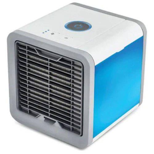 Mini Ar Condicionado Ventilador Portátil Com Lâmpada Colorida Usb - Branco