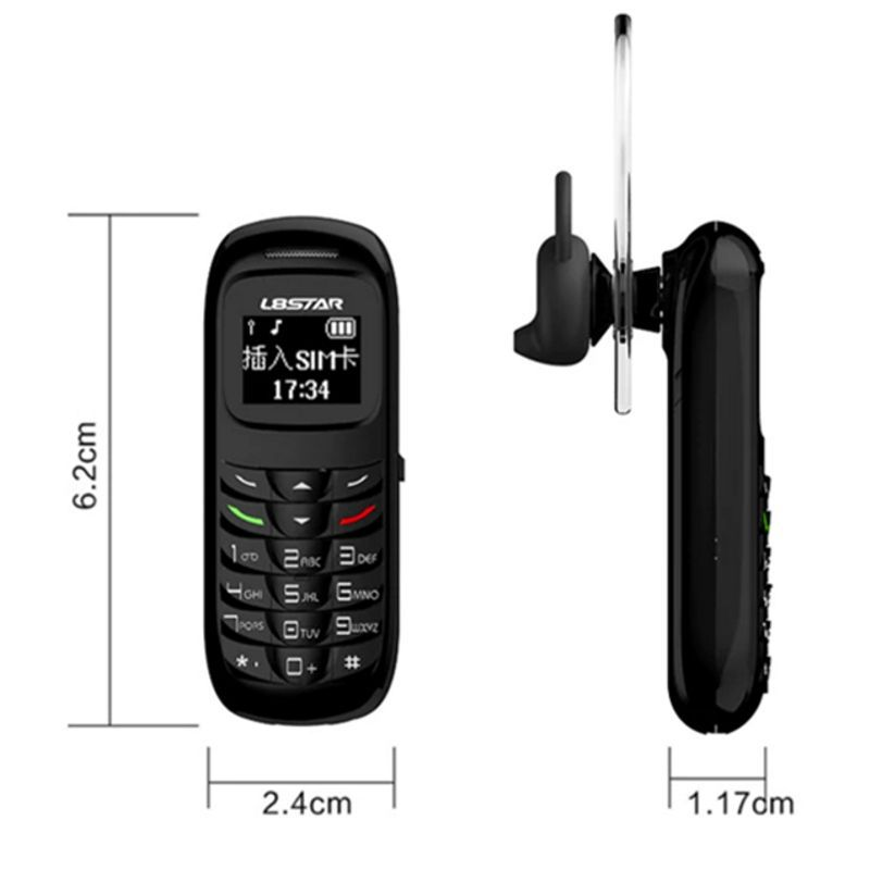 Mini Celular Fone e Bluetooth Gt Star Bm 70 Preto