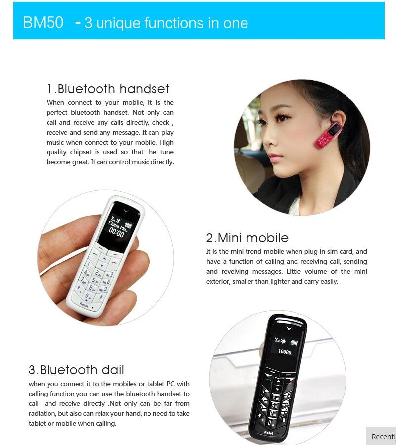 Mini Celular para idosos Fone e Bluetooth Gt Star Bm 50 Branco