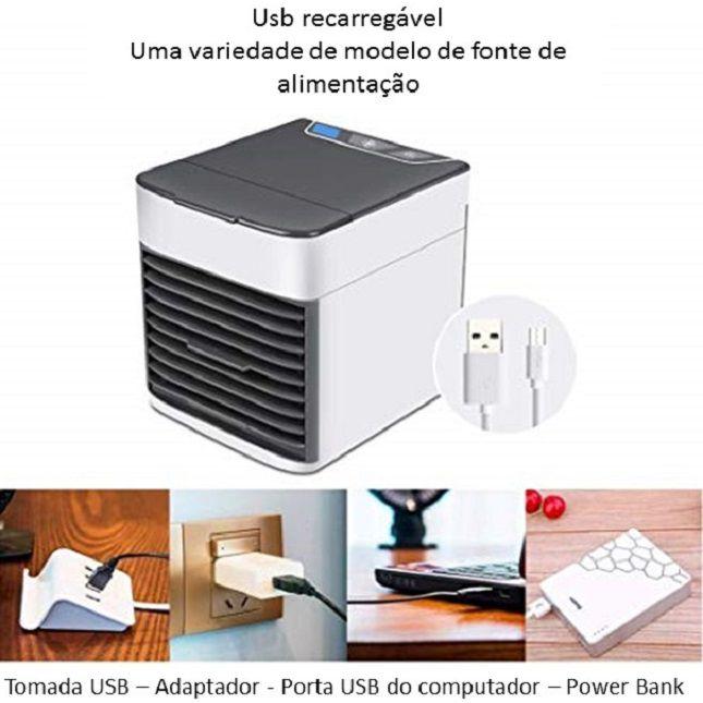Mini Climatizador Ar Condicionado Portátil - Tomate