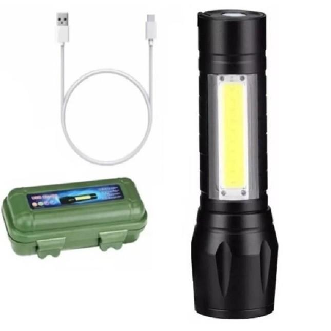 Mini Lanterna Led Cinto Tático Faca Oculta