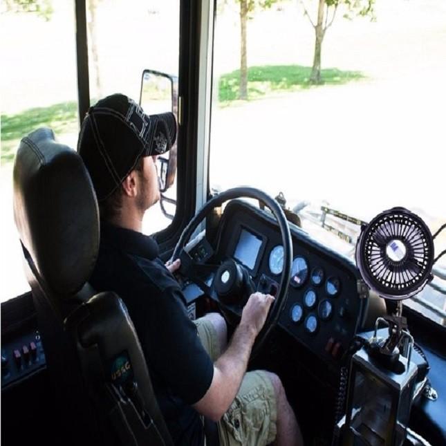 Mini Ventilador de Ar Portátil Carro Caminhão Ônibus Usb