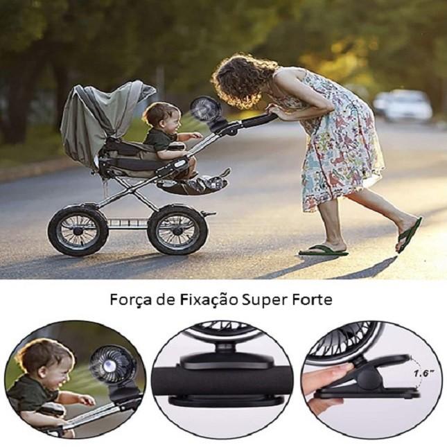 Mini Ventilador Portátil de Carrinho de Bebê