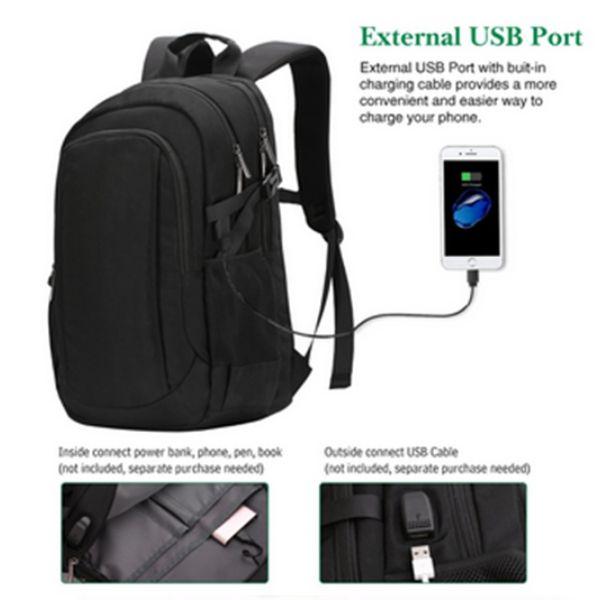 Mochila note book com conexão UBS e PS2 de interna para externa preta