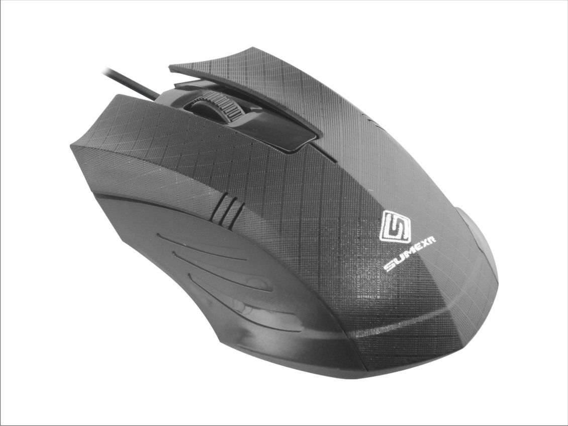 Mouse Optico Usb 3d 1200dpi Preto Top 1.4m Cabo