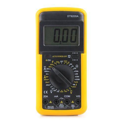 Multímetro  Voltímetro Amperímetro Digital Profissional Inteligente e Capa Dt-9205a