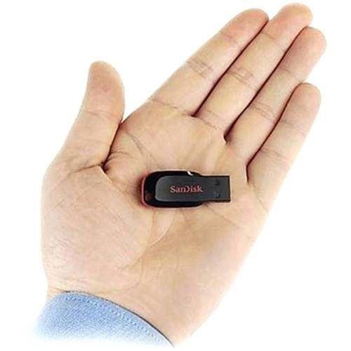 Pen Drive 32GB Sandisk Cruzer Blade Preto e Vermelho