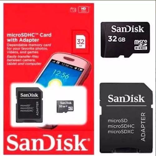 Pen Drive 32 GB Sandisk  e Cartão de Memória Micro Sd 32GB