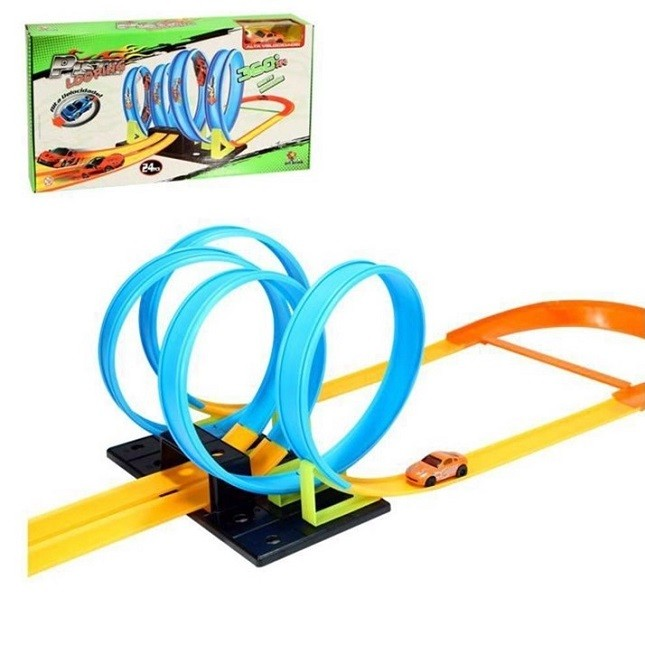 Pista Looping 360º Infantil Manobras Wheels + Carrinho