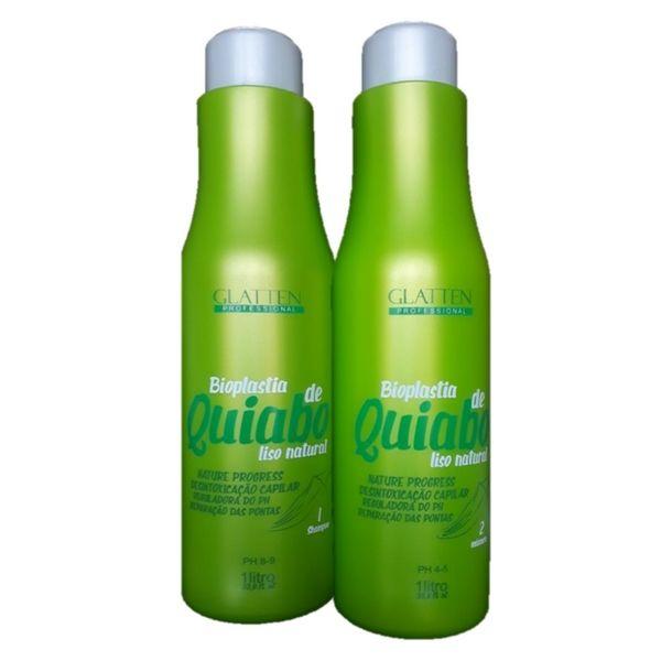 Progressiva Bioplastia de Quiabo liso natural Glatten 1 litro (2 x 1)