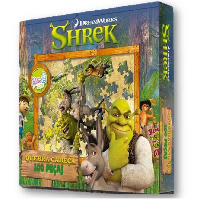 Quebra Cabeça Infantil Shrek 100 Peças