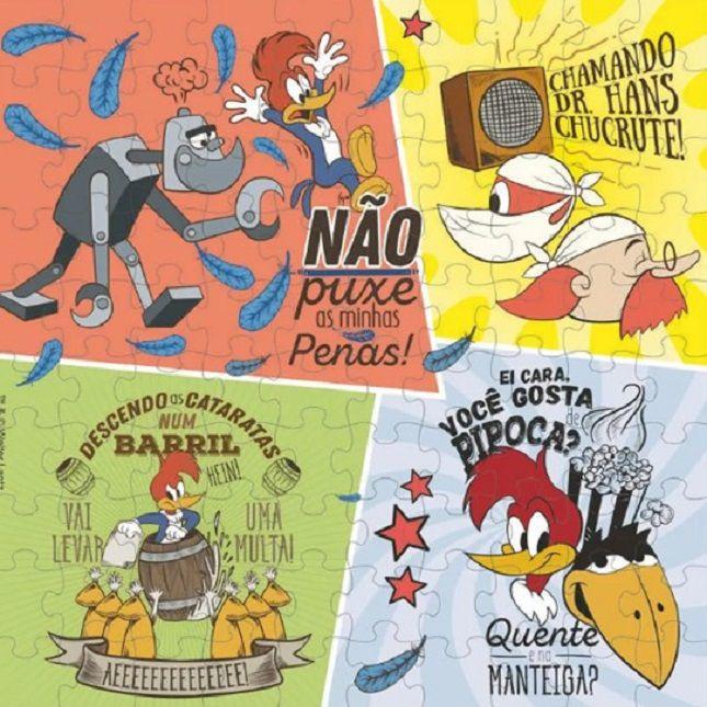 Quebra Cabeça Pica-Pau Infantil  100 Peças