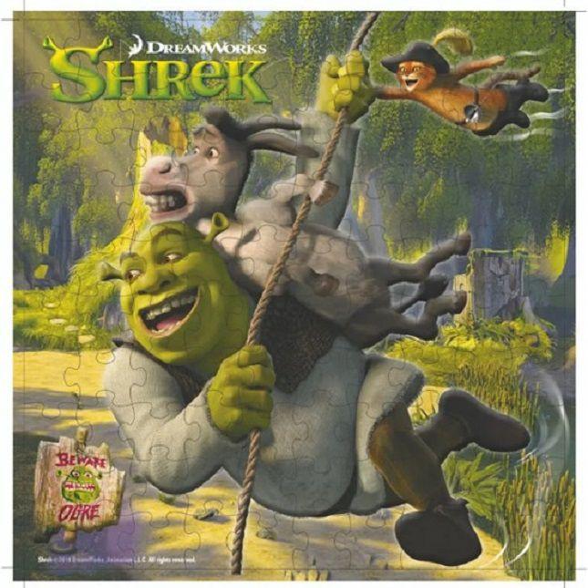Quebra Cabeça Shrek Infantil  100 Peças