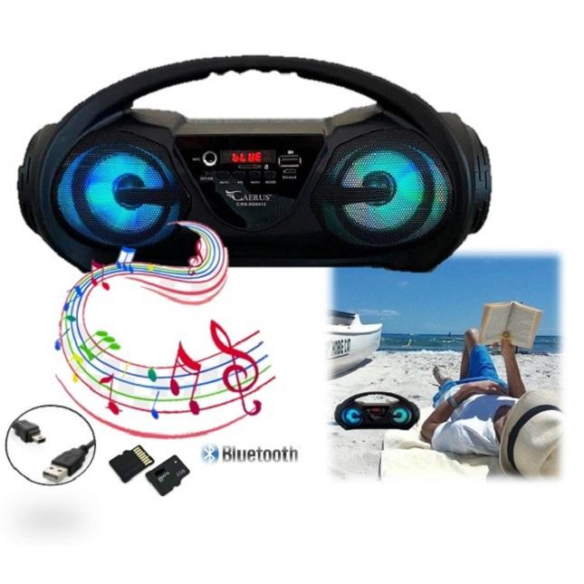 Radio Caixa De Som Portátil Bluetooth com Alça USB TF FM