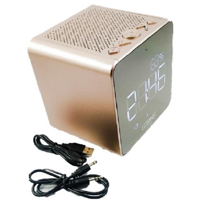 Rádio Relógio FM Bluetooth Despertador Digital LE-673