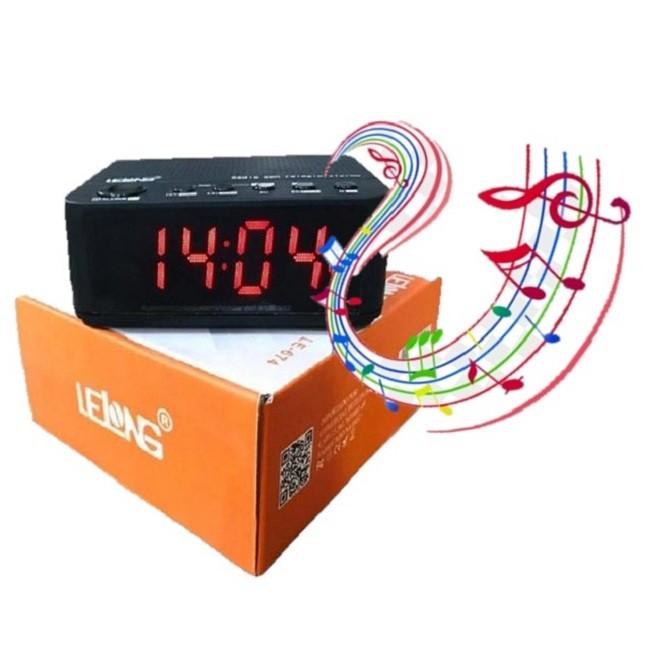Rádio Relógio FM Caixa de Som  Bluetooth Despertador LE-674