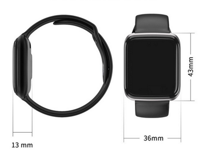 Relógio CY5 Smartwatch Android, Notificações  Bluetooth, Facebook Whatsapp - Preto