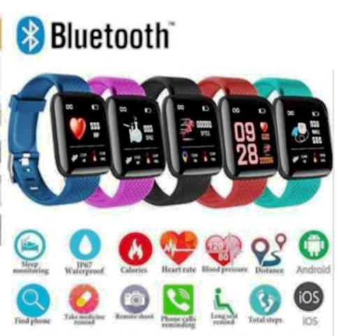 Relógio D13 Smartband  Smartwatch Android, Notificações  Bluetooth Azul