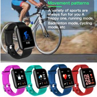 Relógio D13 Smartband  Smartwatch Android, Notificações  Bluetooth Roxa