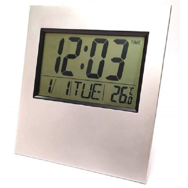 Relógio Digital Para Mesa E Parede Termômetro Calendário